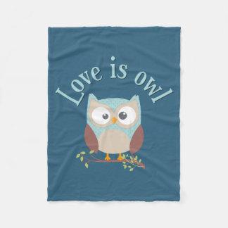"Collection ""Coils is owl "" Fleece Blanket"