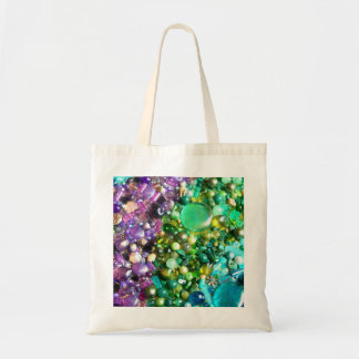 Collection of Colorful Shiny Beads Budget Tote Bag