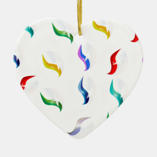Collection Of Glass Marbles Ceramic Heart Decoration