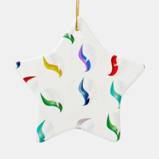 Collection Of Glass Marbles Ceramic Star Decoration