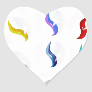 Collection Of Glass Marbles Heart Sticker