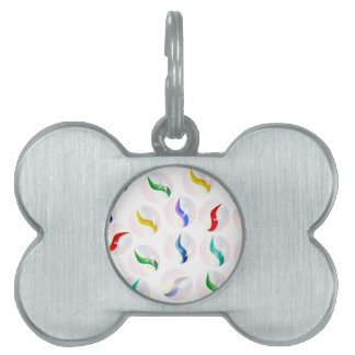 Collection Of Glass Marbles Pet ID Tag