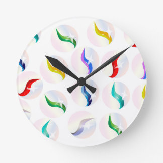 Collection Of Glass Marbles Wallclocks