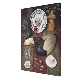 Collection of objects, including a cup canvas print