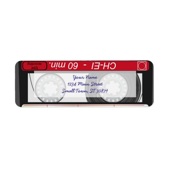 Collection of Retro Audio Cassette Tapes Return Address Label