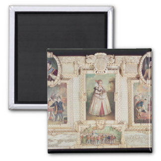 Collection of six miniatures square magnet