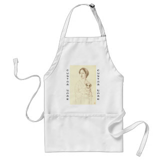 Collection of Sketches of Beauties, Graphite art Standard Apron