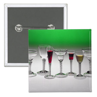 Collection of wine glasses with twist stems 15 cm square badge