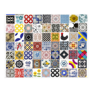 Collection Tiles Postcard