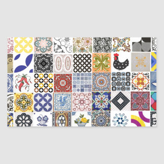 Collection Tiles Rectangular Sticker