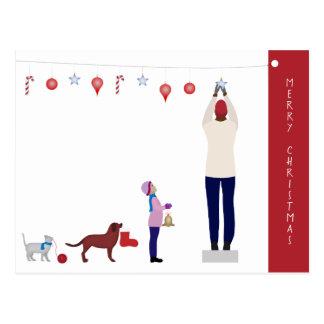 Collective Christmas Decoration Postcard