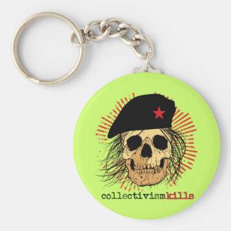 Collectivism Kills Basic Round Button Key Ring