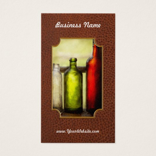 Collector - Bottles - Still life of three bottles Business Card