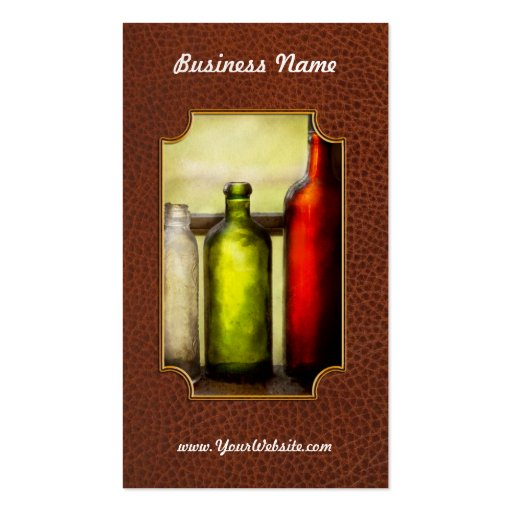 Collector - Bottles - Still life of three bottles Pack Of Standard Business Cards