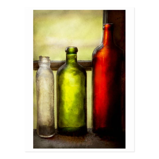 Collector - Bottles - Still life of three bottles Postcard