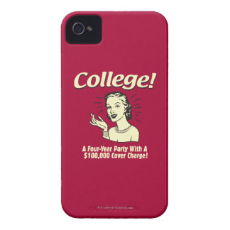 College: 4 Year Party 100,000 Cover iPhone 4 Case-Mate Cases
