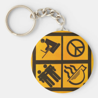 College Balance Basic Round Button Key Ring