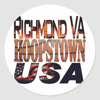 College Basketball Hoopstown Round Sticker