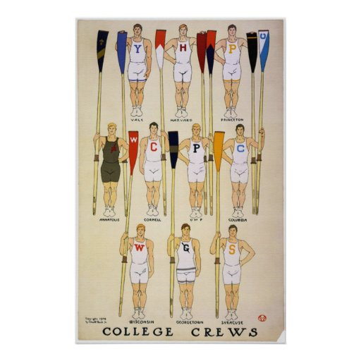 College Crews  & Colors Poster