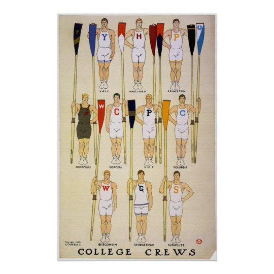 College Crews & Colours Poster