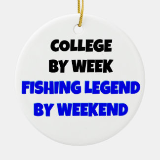 College Fishing Legend Christmas Ornament