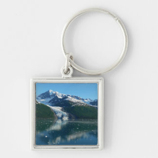 College Fjord II Beautiful Alaska Photography Silver-Colored Square Key Ring