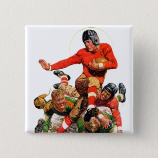 College Football 15 Cm Square Badge