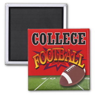 """""""College Football"""" by Cheryl Daniels Square Magnet"""