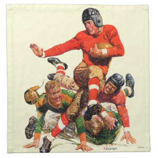 College Football Cloth Napkins