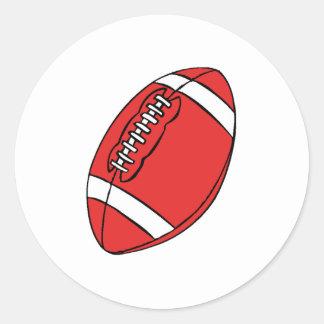 College Football Round Sticker