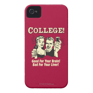 College: Good For Brain Bad For Liver Case-Mate iPhone 4 Cases