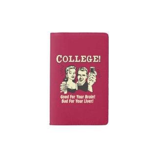 College: Good For Brain Bad For Liver Pocket Moleskine Notebook