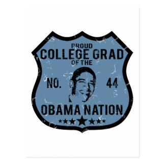 College Grad Obama Nation Postcard
