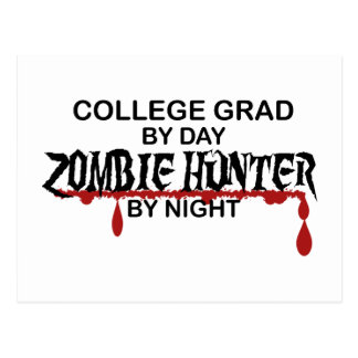 College Grad Zombie Hunter Postcard