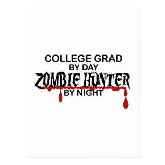 College Grad Zombie Hunter Postcard