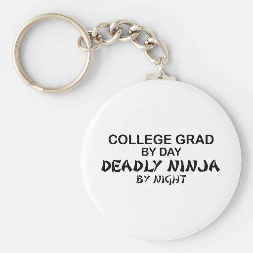College Grade Deadly Ninja by Night Key Chains