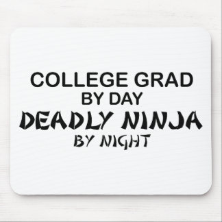 College Grade Deadly Ninja by Night Mouse Pad