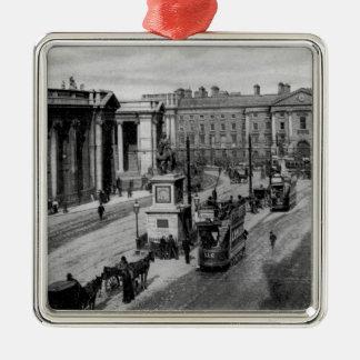 College Green, Dublin, c.1900 Silver-Colored Square Decoration