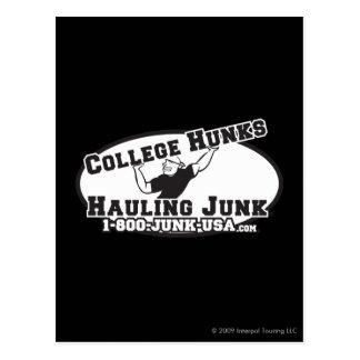 College Hunks Hauling Junk Black and White Postcard