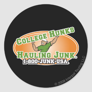College Hunks Hauling Junk Official Logo Classic Round Sticker