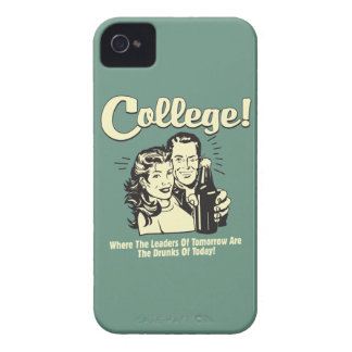 College: Leaders Tomorrow Drunk Today iPhone 4 Cover