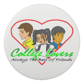 College Lovers Round Eraser