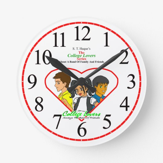 College Lovers Wall Clock