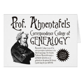 College Of Genealogy Birthday Card