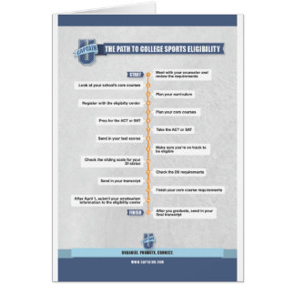 College Sports Eligibility Poster Cards