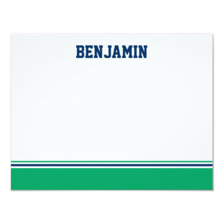 College Stripe Bar Mitzvah Thank You Card