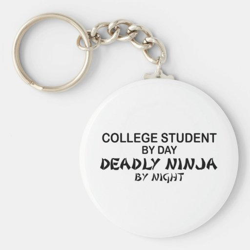 College Student Deadly Ninja by Night Keychains