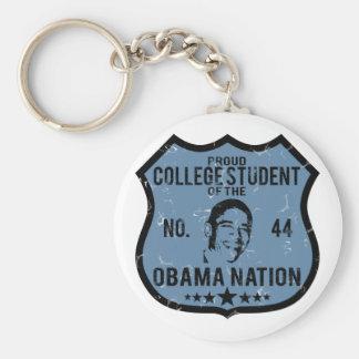 College Student Obama Nation Basic Round Button Key Ring