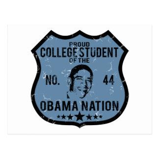 College Student Obama Nation Postcard