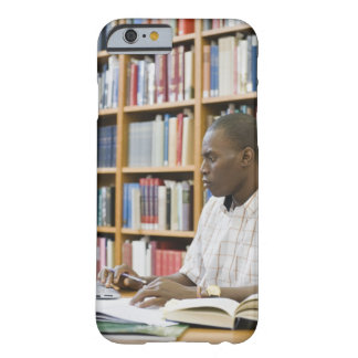College student working in library barely there iPhone 6 case